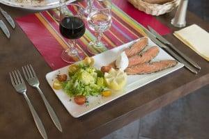 Repas gourmands dans résidence Touraine