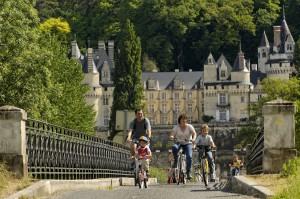 randonnées à vélo autour du château d'Ussé en Touraine